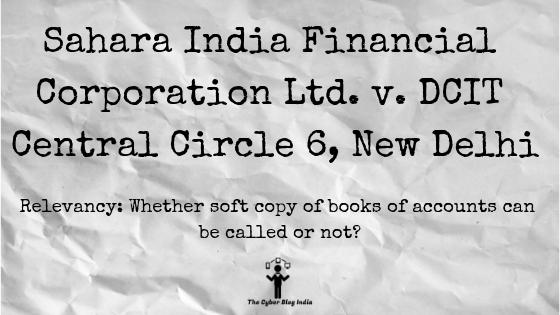 Sahara India Financial Corporation Ltd. v. DCIT Central Circle 6, New Delhi