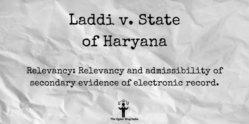 Laddi v. State of Haryana