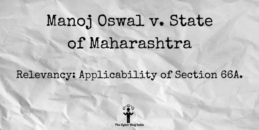 Manoj Oswal v. State of Maharashtra