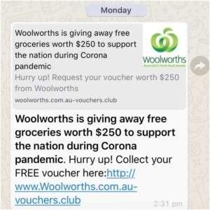 Free Groceries Scam & Phishing Link