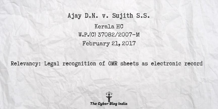 Ajay D.N. v. Sujith S.S.