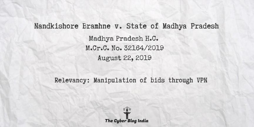 Nandkishore Bramhne v. State of Madhya Pradesh