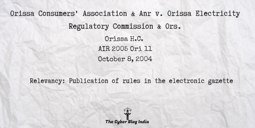 Orissa Consumers' Association & Anr v. Orissa Electricity Regulatory Commission & Ors.