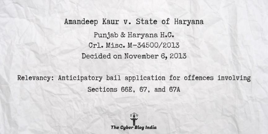 Amandeep Kaur v. State of Haryana