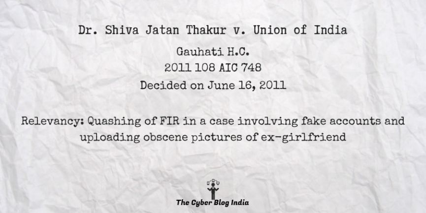 Dr. Shiva Jatan Thakur v. Union of India