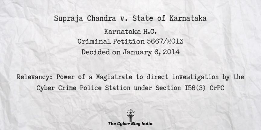 Supraja Chandra v. State of Karnataka