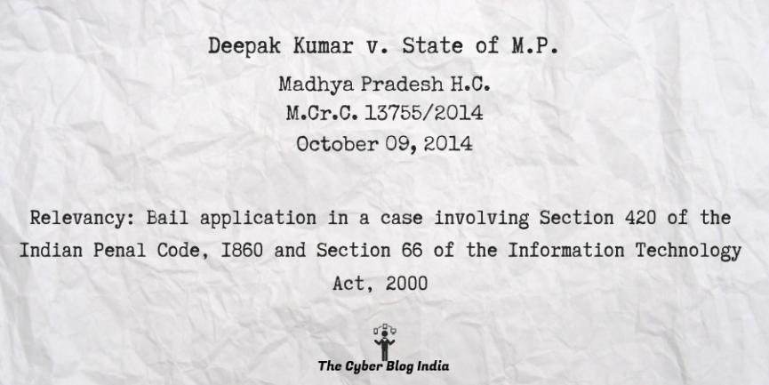 Deepak Kumar v. State of M.P.
