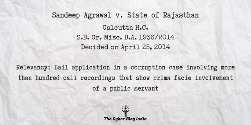 Sandeep Agrawal v. State of Rajasthan