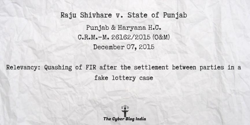 Raju Shivhare v. State of Punjab