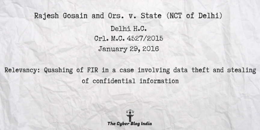 Rajesh Gosain and Ors. v. State (NCT of Delhi)