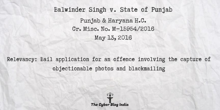 Balwinder Singh v. State of Punjab