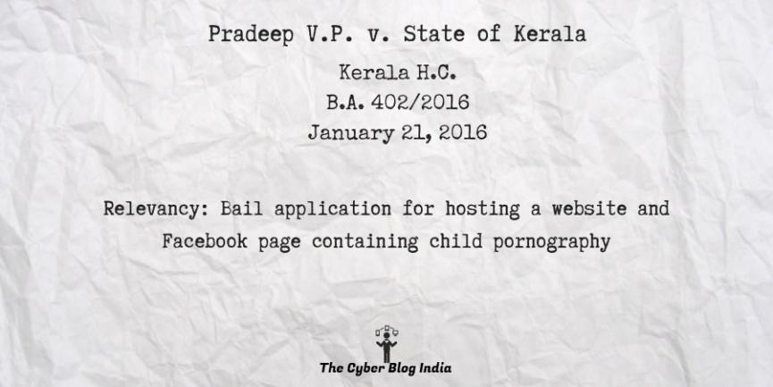 Pradeep V.P. v. State of Kerala