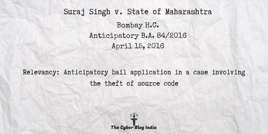 Suraj Singh v. State of Maharashtra