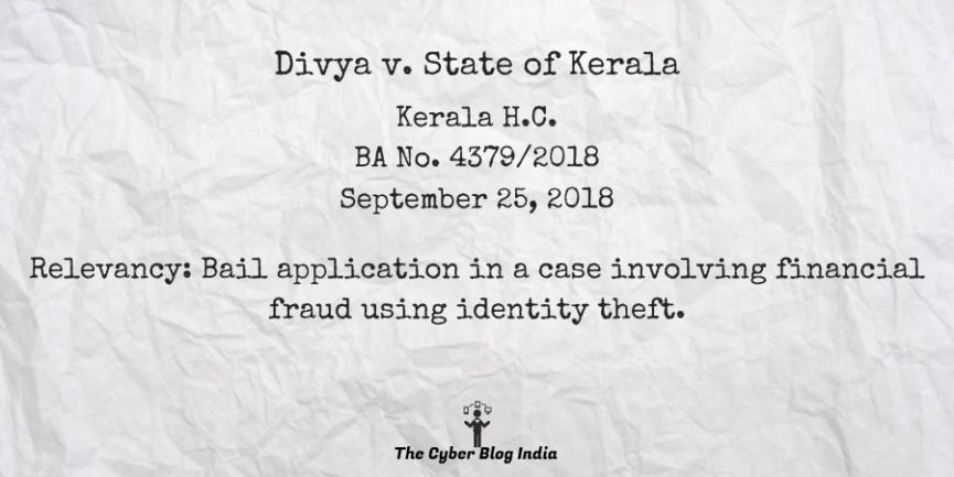Divya v. State of Kerala