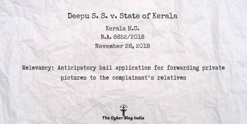 Deepu S. S. v. State of Kerala