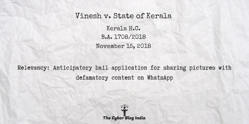 Vinesh v. State of Kerala