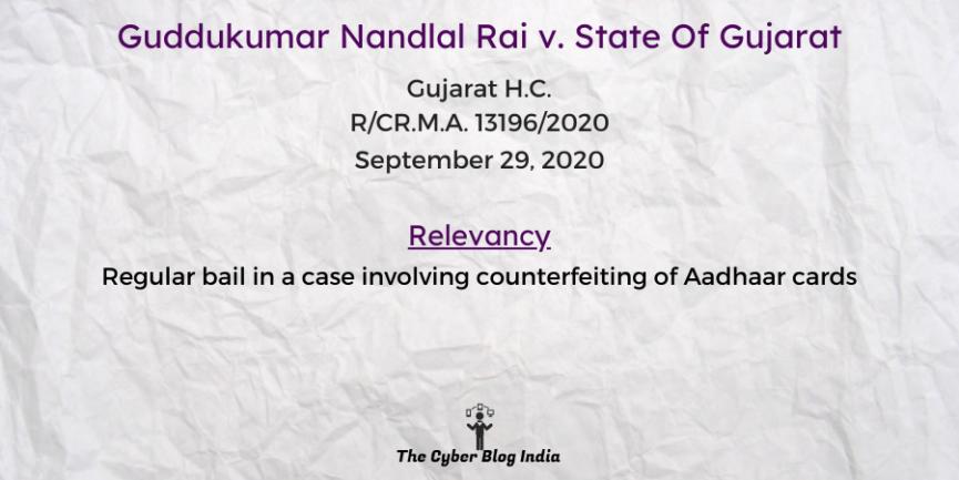 Guddukumar Nandlal Rai v. State Of Gujarat