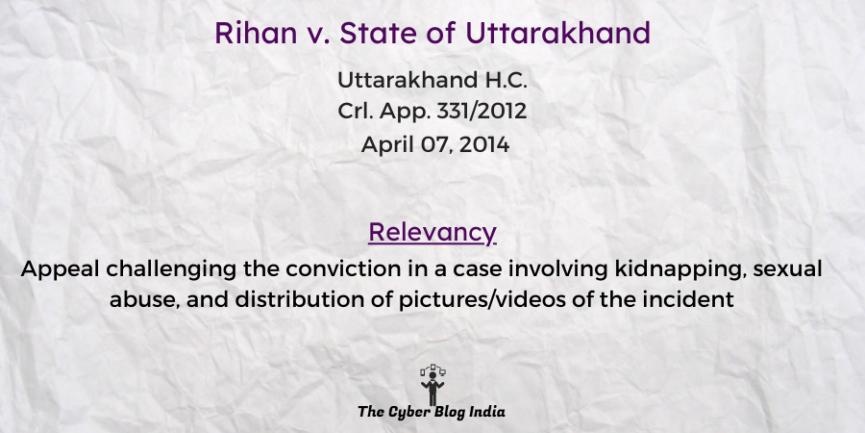 Rihan v. State of Uttarakhand