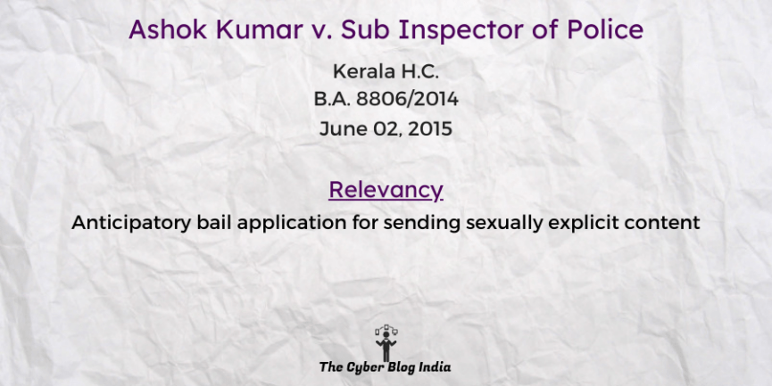 Ashok Kumar v. Sub Inspector of Police