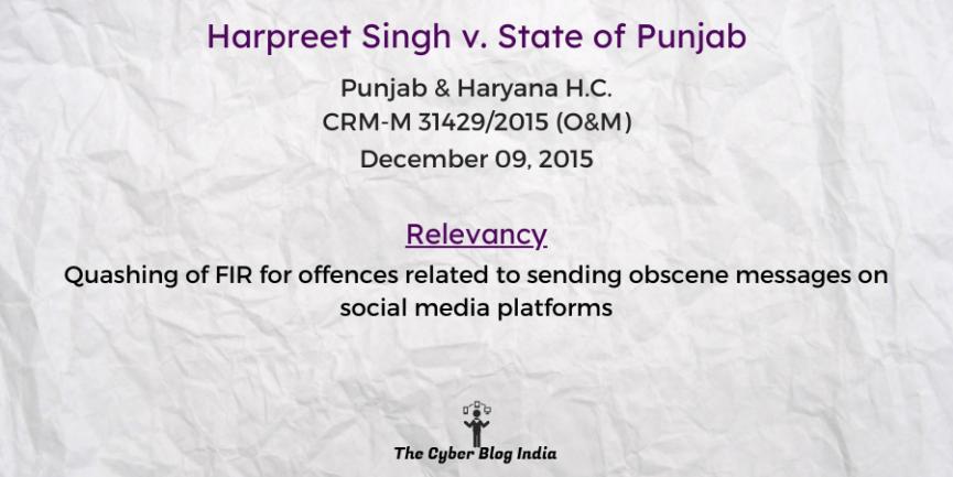 Harpreet Singh v. State of Punjab