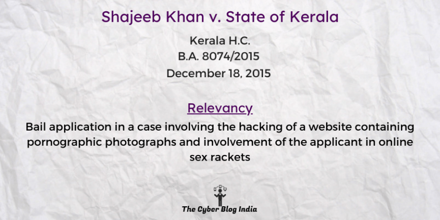 Shajeeb Khan v. State of Kerala
