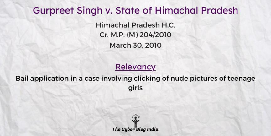 Gurpreet Singh v. State of Himachal Pradesh