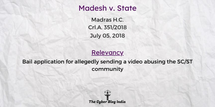 Madesh v. State