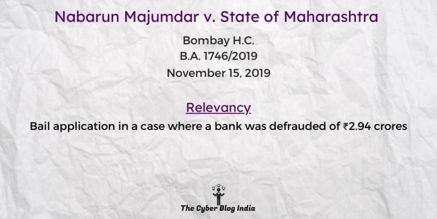 Nabarun Majumdar v. State of Maharashtra