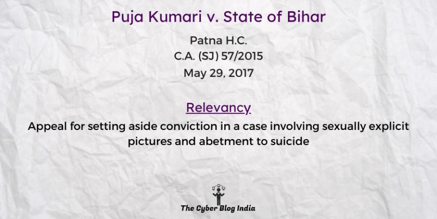 Puja Kumari v. State of Bihar