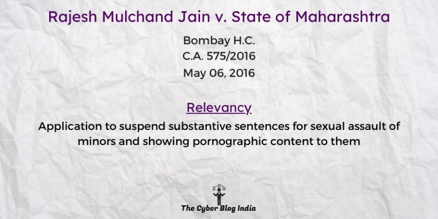 Rajesh Mulchand Jain v. State of Maharashtra
