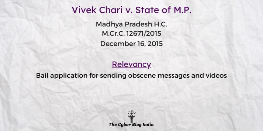 Vivek Chari v. State of M.P.