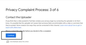 Privacy Complaint Process