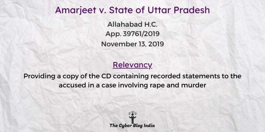 Amarjeet v. State of Uttar Pradesh