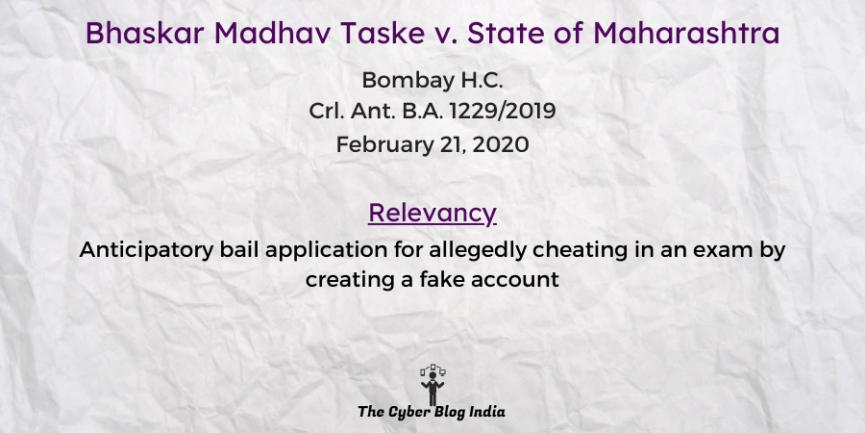 Bhaskar Madhav Taske v. State of Maharashtra