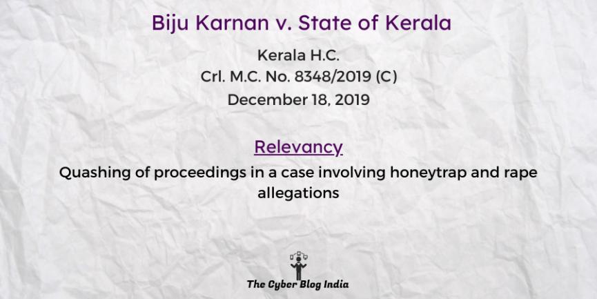 Biju Karnan v. State of Kerala