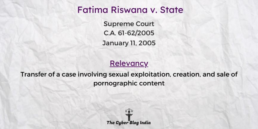 Fatima Riswana v. State