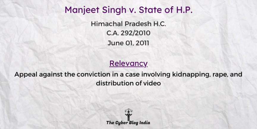 Manjeet Singh v. State of H.P.