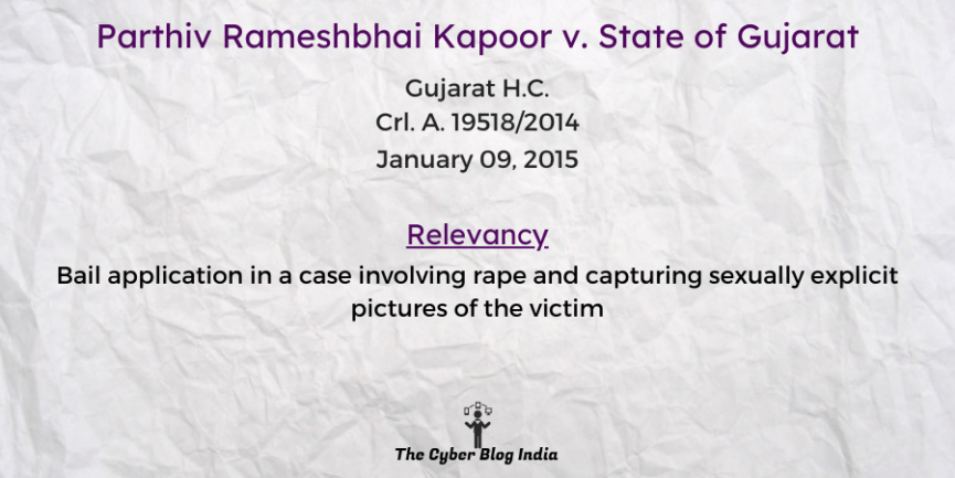 Parthiv Rameshbhai Kapoor v. State of Gujarat