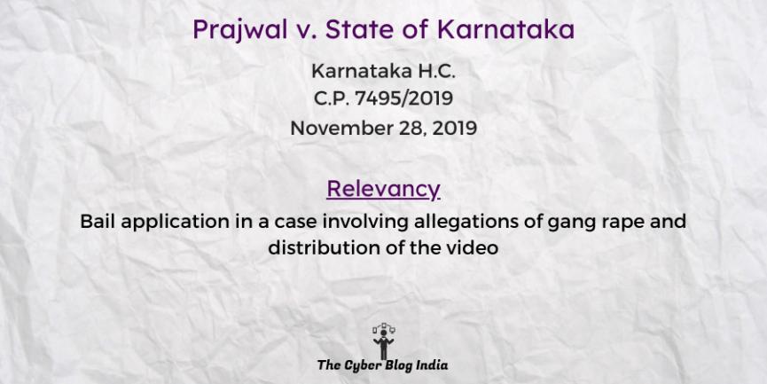 Prajwal v. State of Karnataka