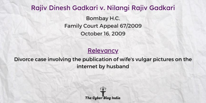 Rajiv Dinesh Gadkari v. Nilangi Rajiv Gadkari