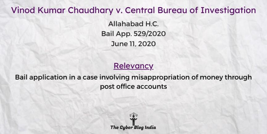 Vinod Kumar Chaudhary v. Central Bureau of Investigation