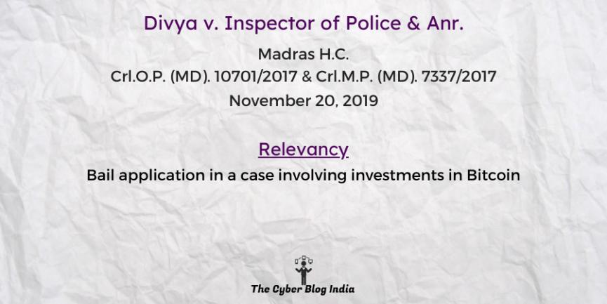 Divya v. Inspector of Police & Anr.