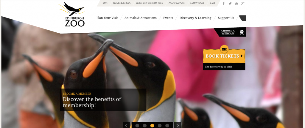 Edinburgh Zoo's website