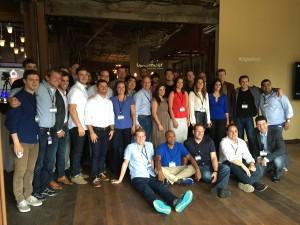 Microsoft Ventures Digital Work Cohort chilling on Demo Day