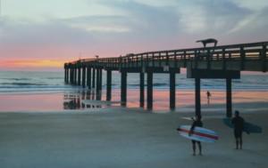Third Place Surfers Sunrise - Eileen Hatton