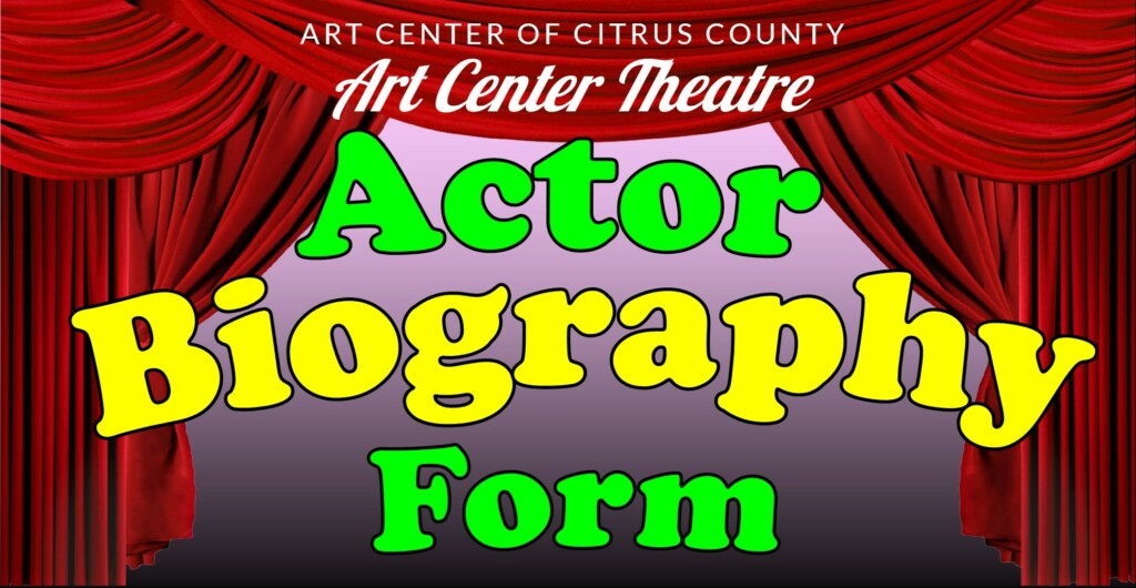 Actor Biography Form