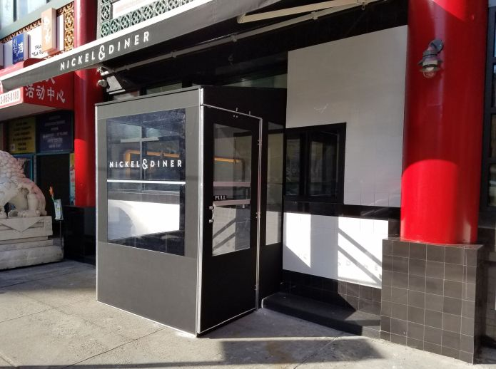 custom vestibule for NYC business