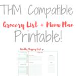 Trim Healthy Mama FREE Weekly Grocery List + Meal Plan Printable!