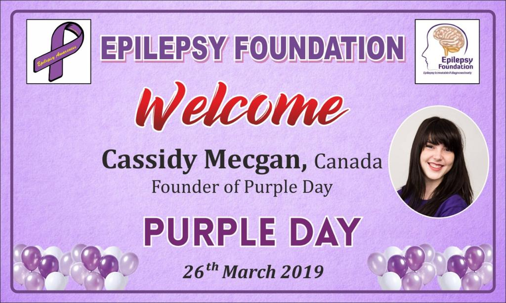 Cassidy Megan, Founder of Purple Day® Brings Epilepsy Awareness to India