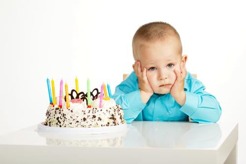Estrés en la fiesta de cumpleaños